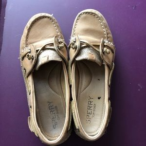 sperry top sider glittery shoes